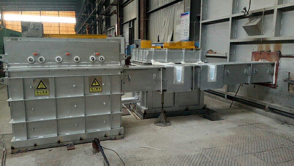 Inline degassing unit